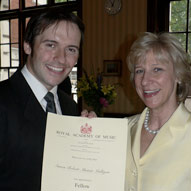 Being presented with the Fellowship of the Royal Academy of Music by HRH the Duchess Of Gloucester