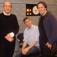 "Recording for BBC Radio's ""In Tune"" with Kit and the Widow"