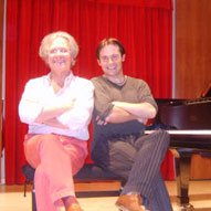 With piano-maker extraordinaire Paolo Fazioli, recording my Beethoven CD at his concert hall