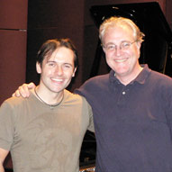 With Pulitzer-winning composer Paul Moravec, recording a CD of his music