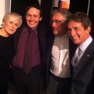 Backstage with the stupendous talents of Glenn Close, Robert De Niro and Martin Short